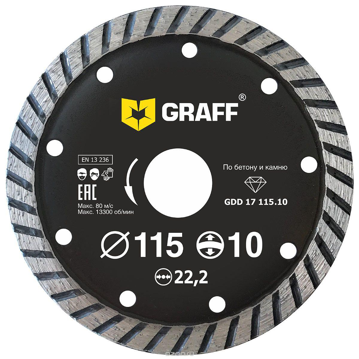 Круг алмазный Graff (gdd 17 115.10) Ф115х22мм по бетону цена и фото