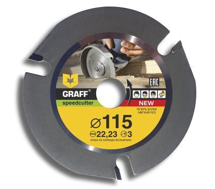 Диск пильный твердосплавный GRAFF Ф115х22мм  3зуб. (speedcutter115)