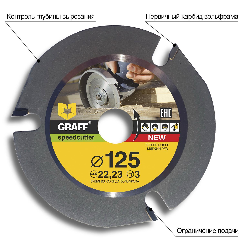 Диск пильный твердосплавный Graff Ф125х22мм зуб. (speedcutter125) развивающий коврик felice волшебный дуб 95 х 95 см