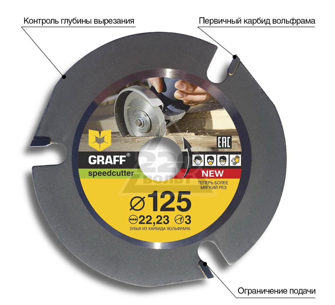 Круг отрезной GRAFF speedcutter125
