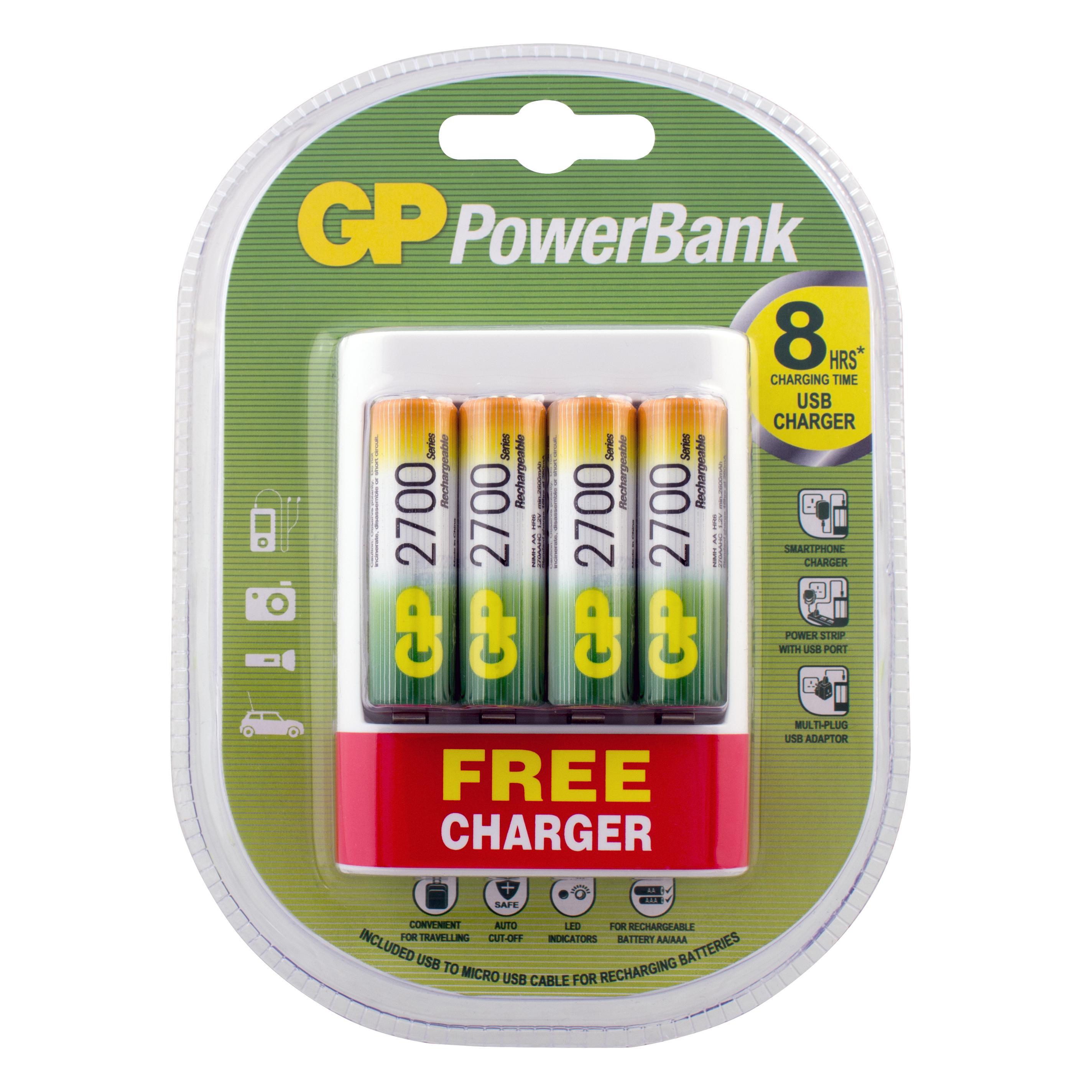 Зарядное устройство Gp U411270aahcf-2ue4 /15 +акк.