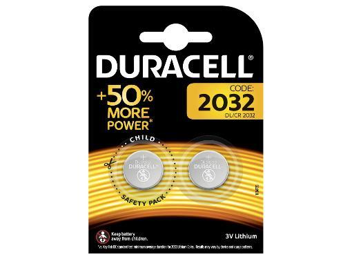 Батарейка DURACELL CR2032-2BL Тип: CR2032 (Кол-во в уп. 2шт.)