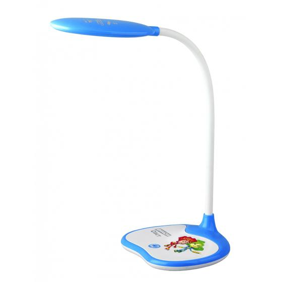 Лампа настольная ЭРА Nled-433-6w-bu Б0028462 эра б0028462 настольный светодиодный светильник nled 433 6w bu синий дизайн фиксики плавный диммер яркости цвет температура 3000 4500 6500к