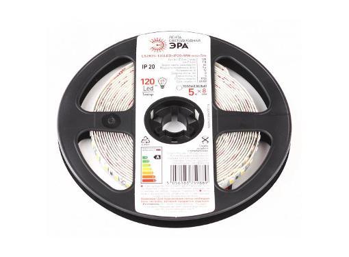 Лента светодиодная ЭРА LS2835-120LED-IP20-WW-eco-5m Б0035596
