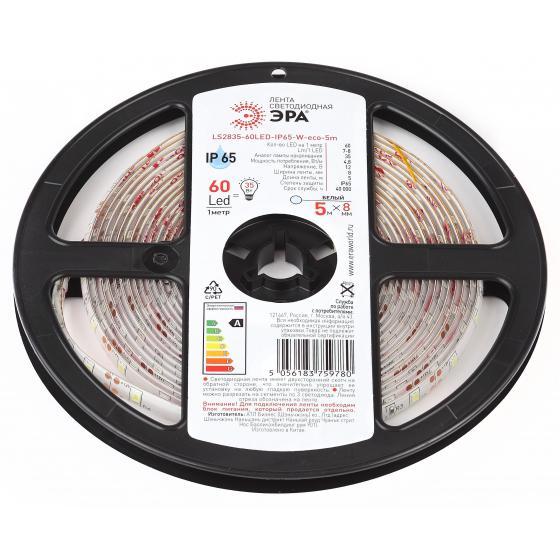 цена на Лента светодиодная ЭРА Ls2835-60led-ip65-w-eco-5m Б0035590