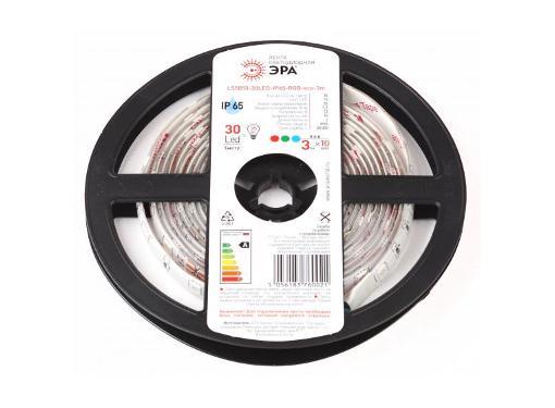 Лента светодиодная ЭРА LS5050-30LED-IP65-RGB-eco-3m Б0035603