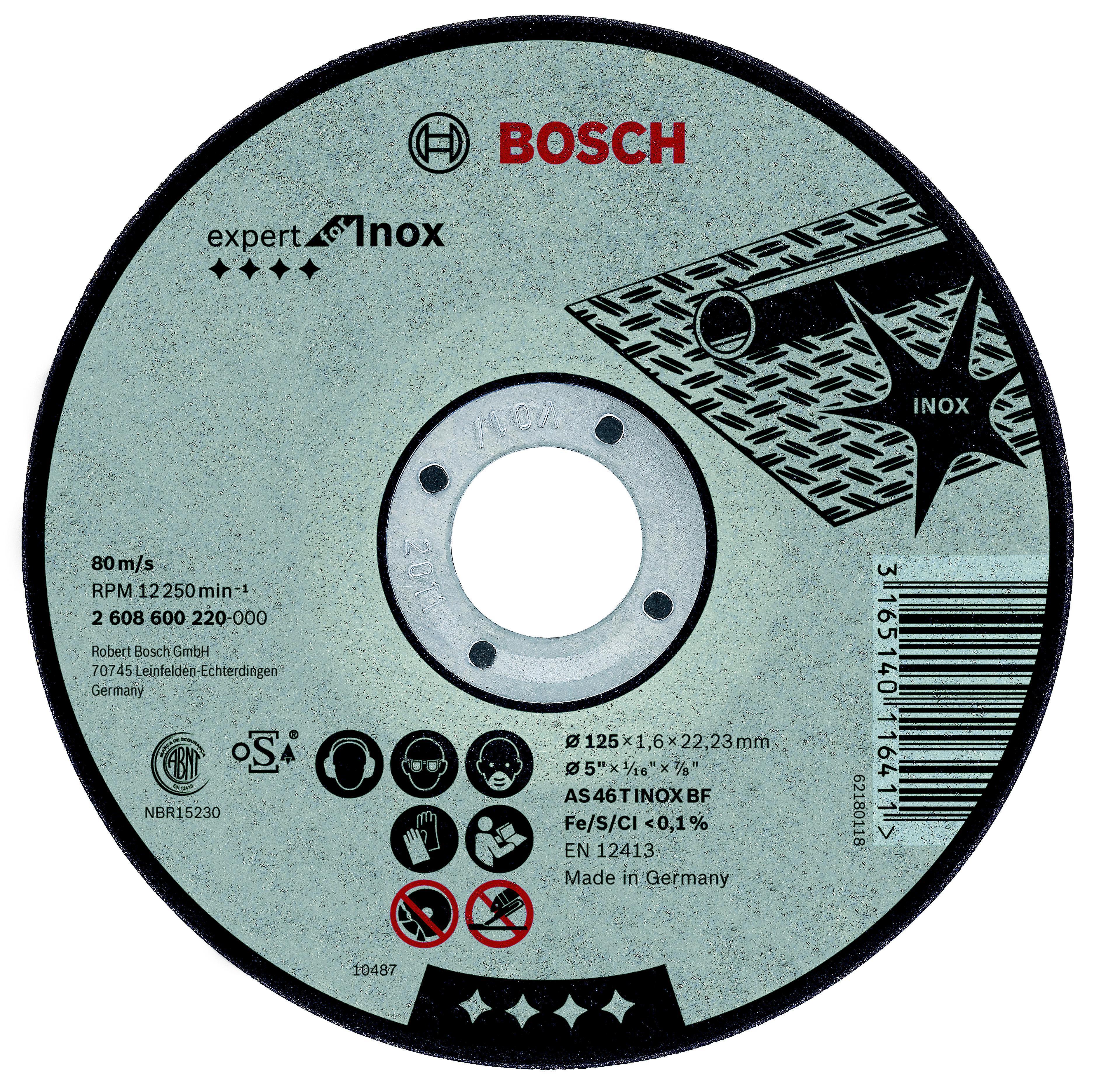 Набор Bosch Круг отрезной 230х2х22 expert for inox (2.608.600.096) круг отрезной klingspor 230х2х22 kronenflex a 24 extra