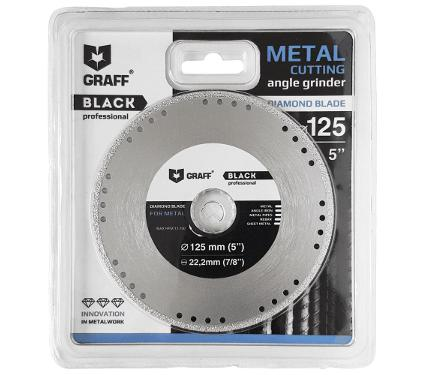Круг алмазный GRAFF GDDM125B Ф125х22мм по металлу