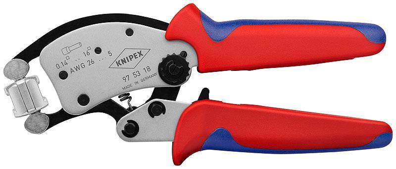 Кримпер Knipex Kn-975318 инструмент для снятия изоляции knipex kn 1250200