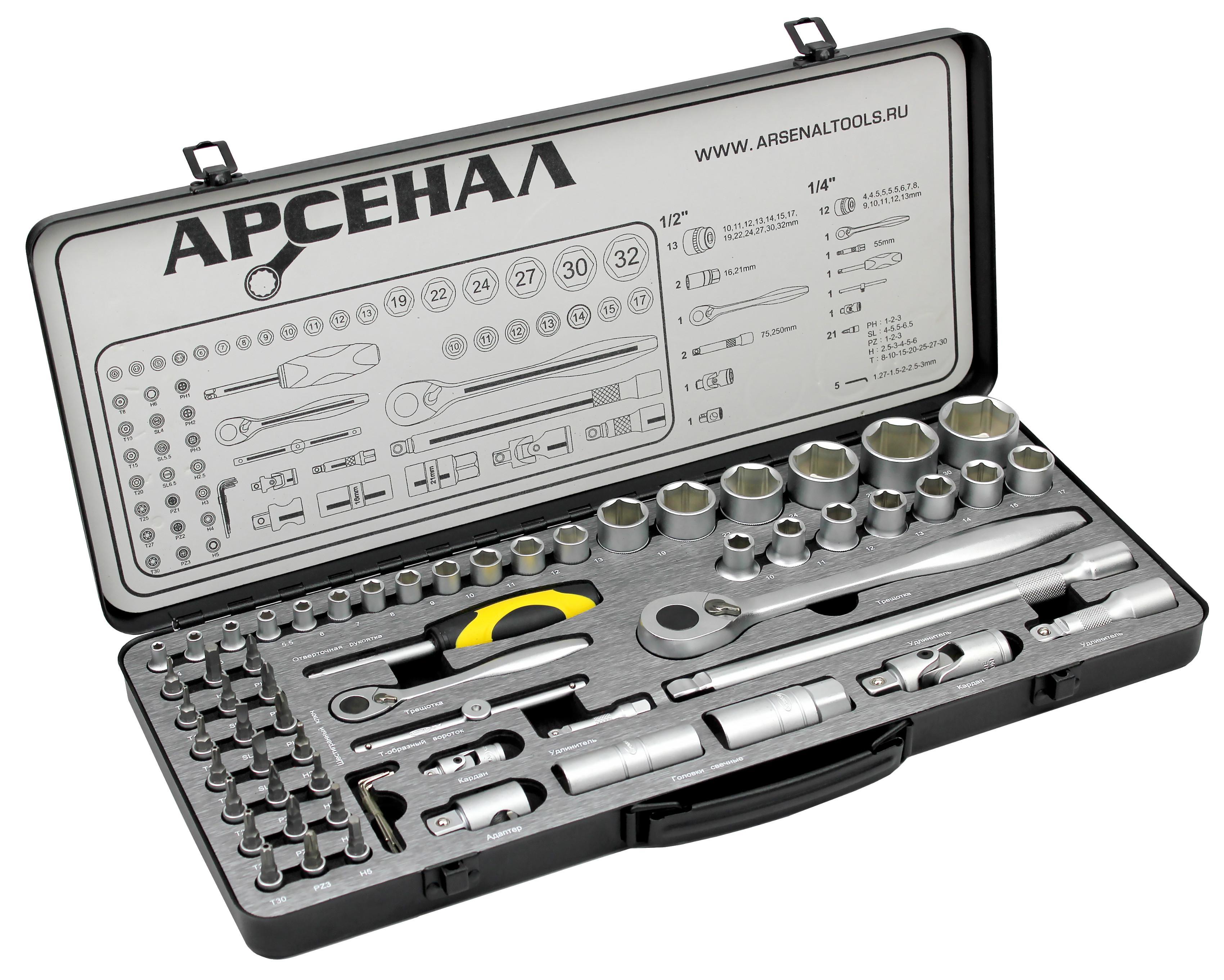 Набор инструментов АРСЕНАЛ АА-М1412У63