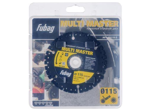 Круг алмазный FUBAG Multi Master  (88115-3) Ф115х22мм по бетону/металл/дерево