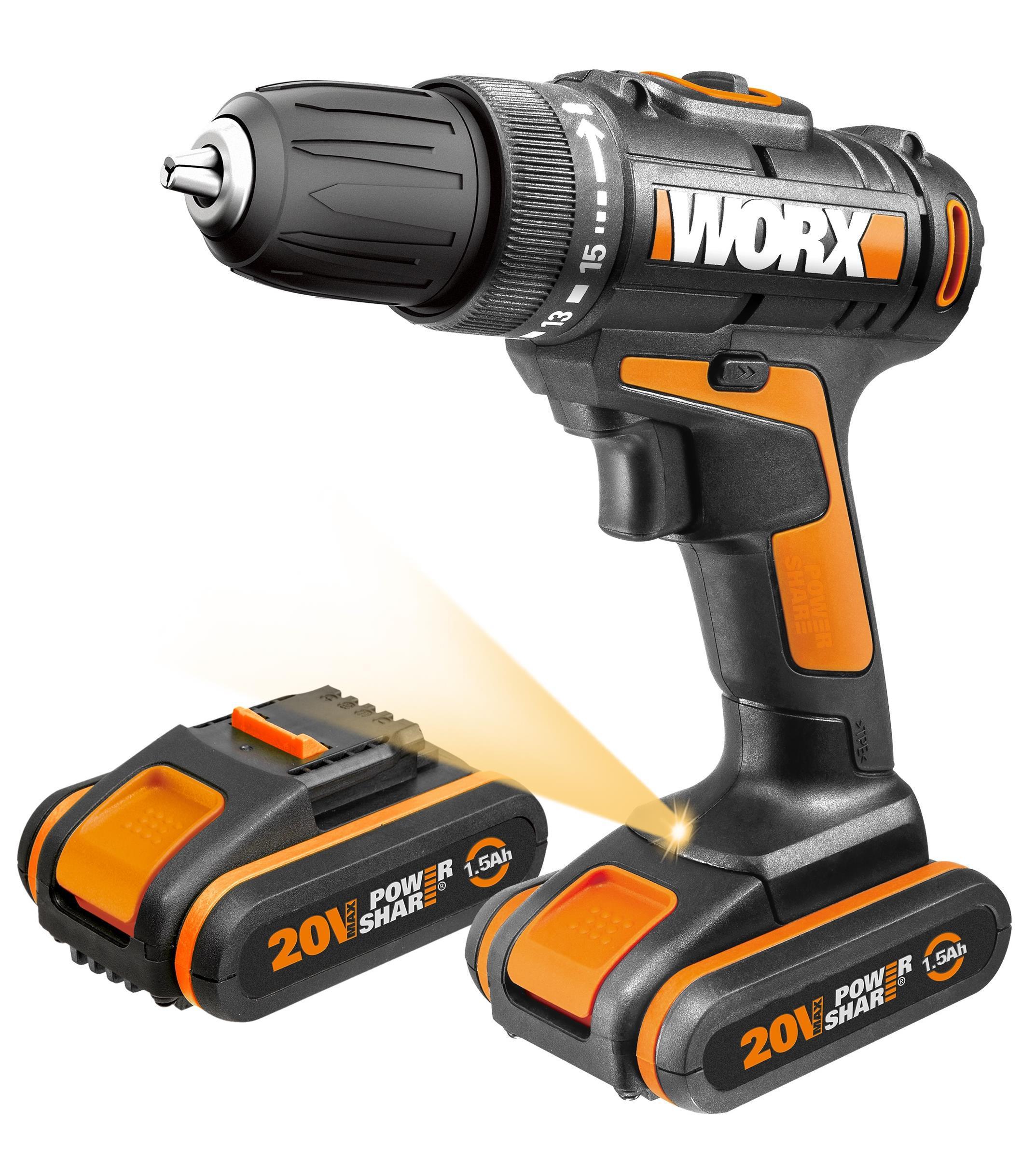 Дрель аккумуляторная Worx Wx101