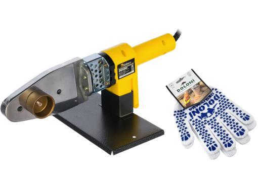 Набор KOLNER Аппарат для сварки пластиковых труб 800 МC +Перчатки ПВХ 580  с точкой ПВХ 2х. сторон.