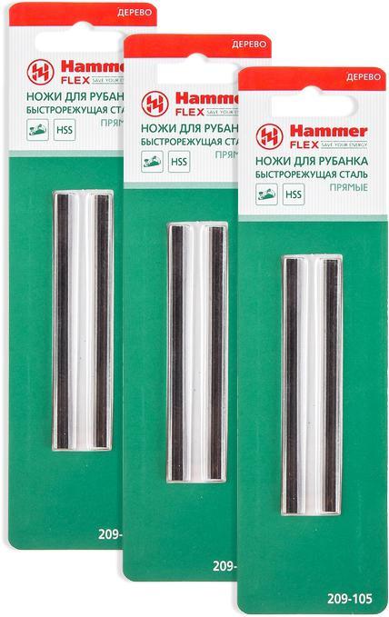 цена на Набор Hammer Ножи для рубанка pb 82*5,5*1,1 hss