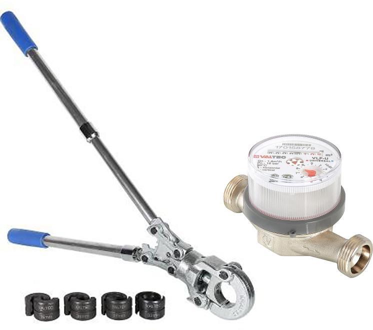 Набор Valtec Счетчик воды vlf-15u-l +Пресс-клещи vtm.293.0.160032 цена