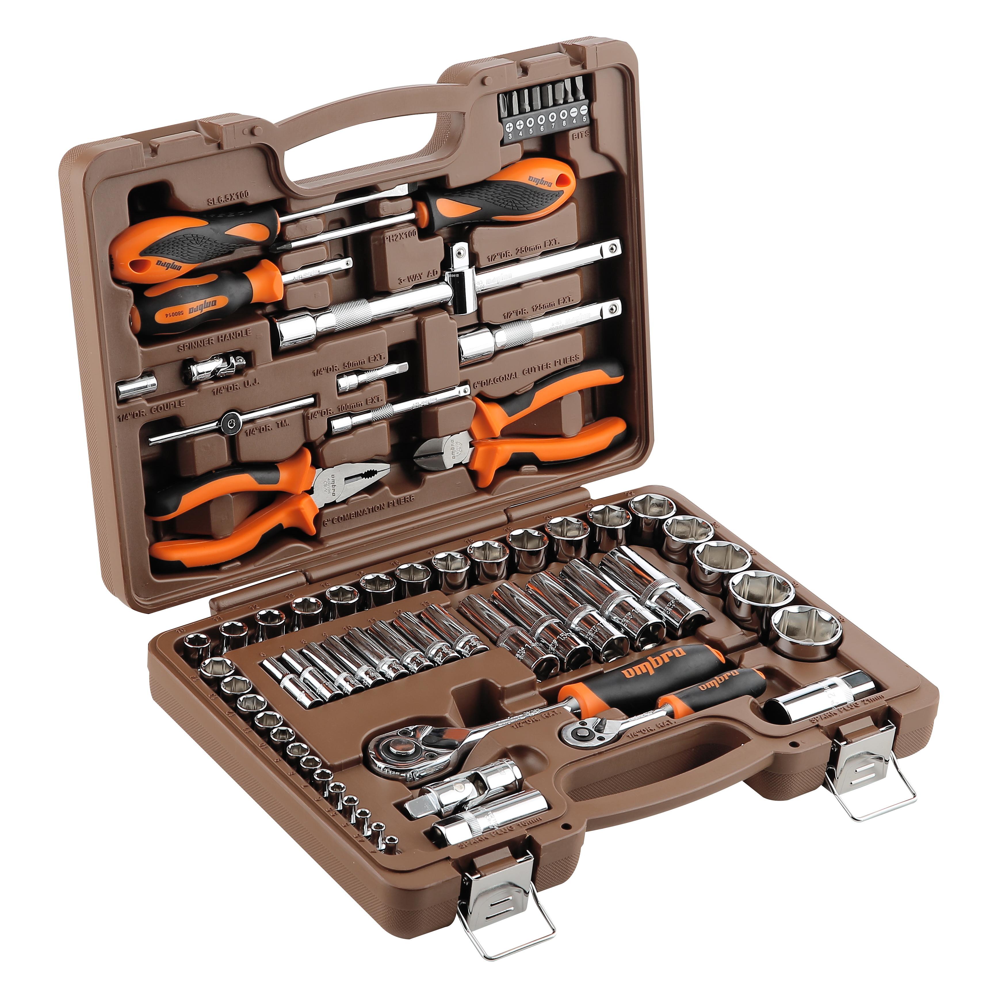 Набор инструментов в чемодане, 69 предметов Ombra Omt69s молоток ombra 800003