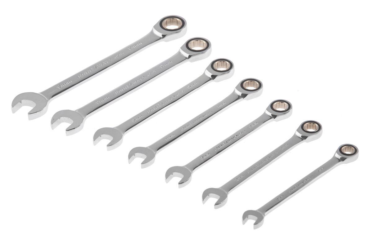 набор комбинированных гаечных ключей в кейсе 7 шт Jonnesway W45107s комбинированные трещоточные ключи 7шт цена фото купить в москве спб и рф