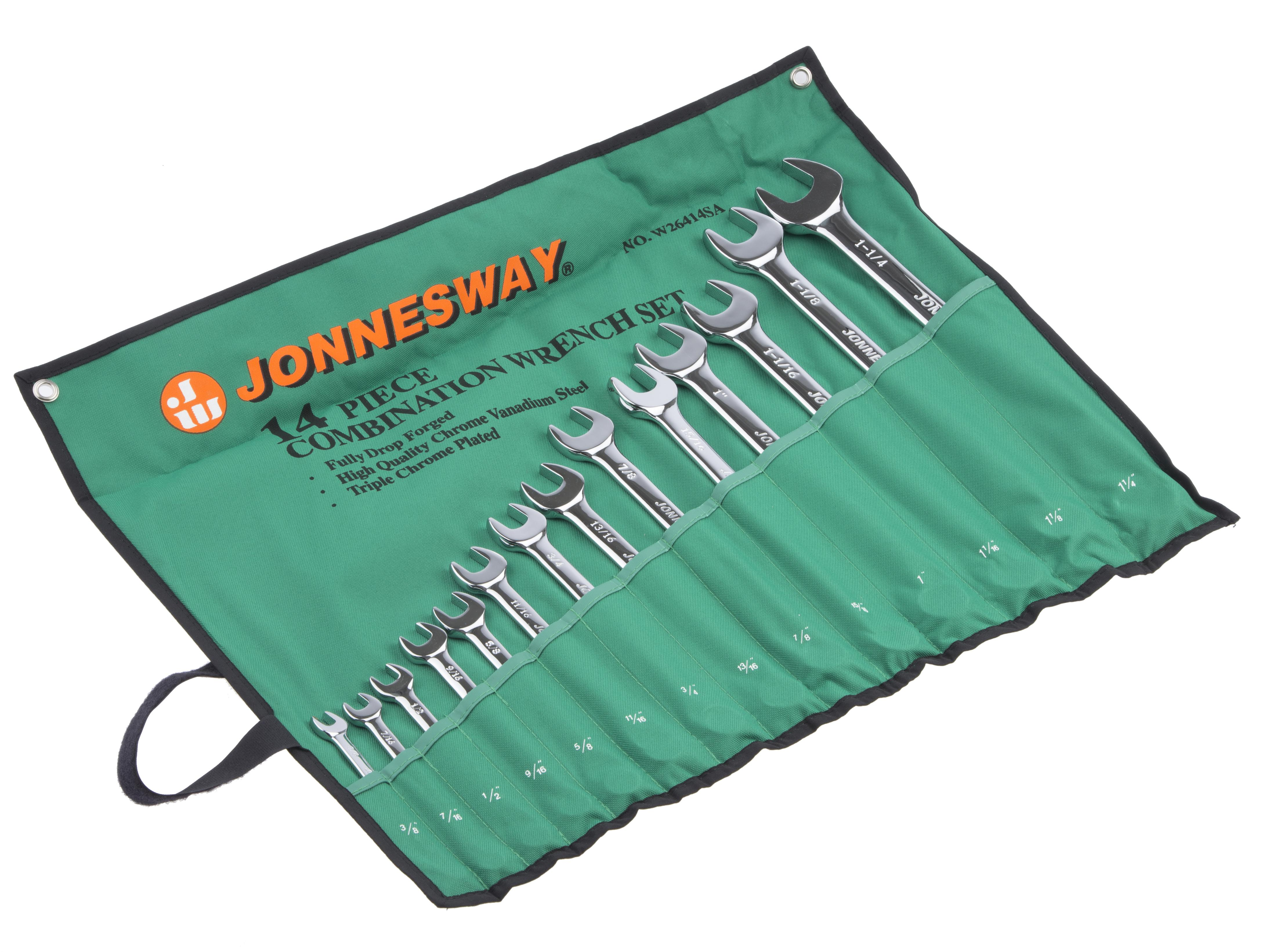 Набор гаечных ключей, 14 шт. Jonnesway W26414s (9.5 - 31.75 мм) набор для регулировки фаз грм дизельных двигателей renault nissan dci jonnesway al010183