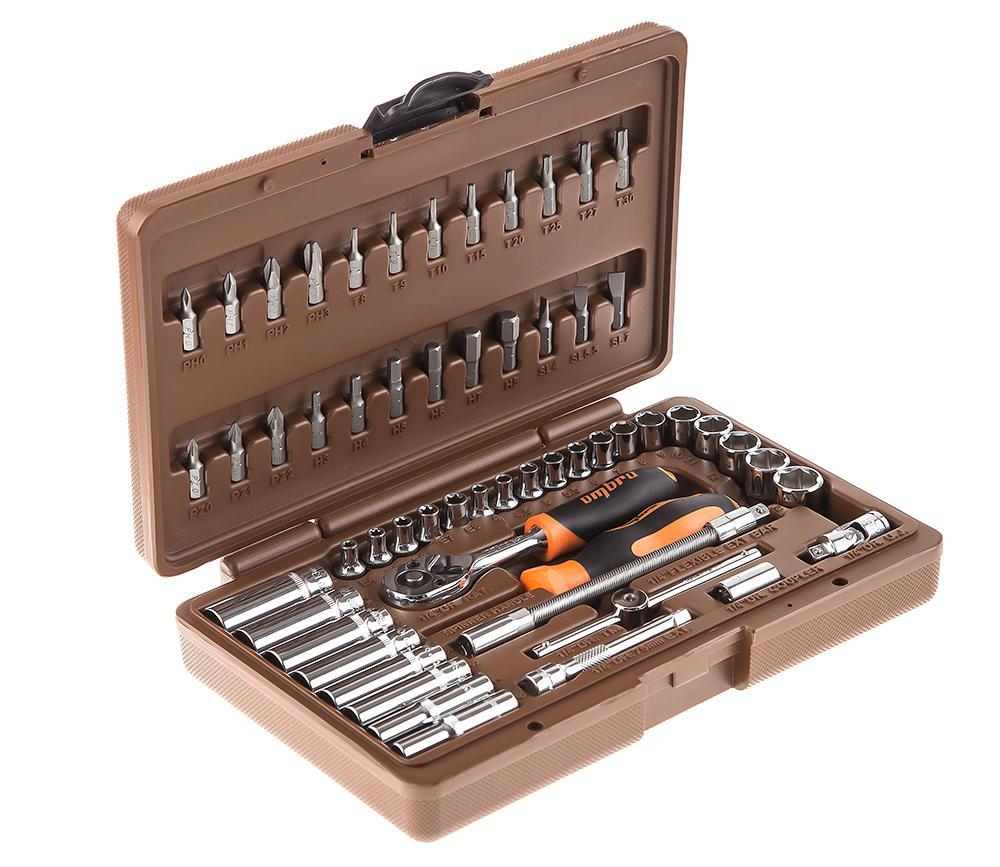 цены Набор инструментов в пластиковом кейсе, 57 предметов Ombra Omt57s