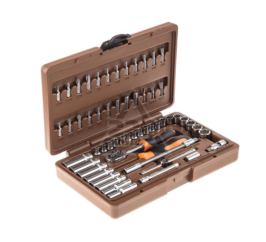 Набор инструментов в пластиковом кейсе, 57 предметов OMBRA OMT57S