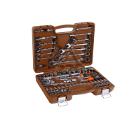 """Универсальный набор инструмента с головками торцевыми 6-гранными 1/2""""DR, 1/4"""" (82 предмета) OMBRA OMT82S"""