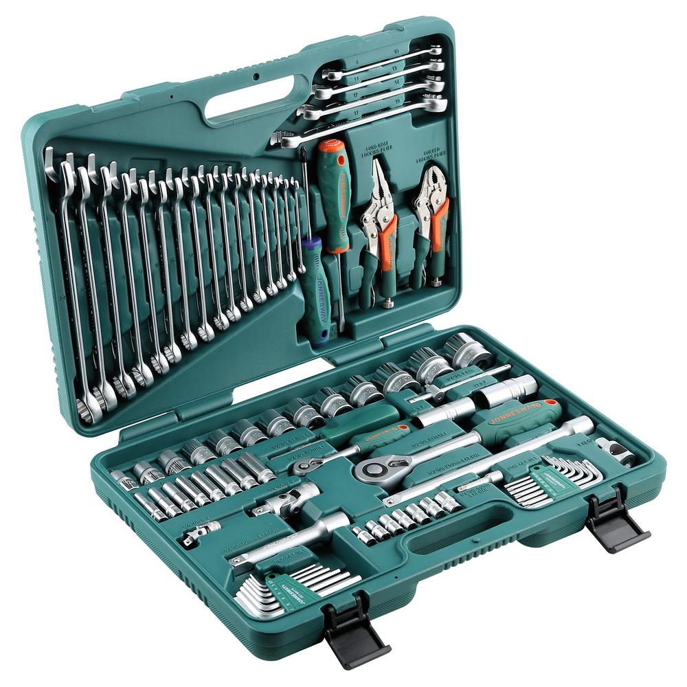 Набор инструментов в чемодане профессиональный, 78 предметов Jonnesway S04h52478s набор инструментов jonnesway s04h524128s