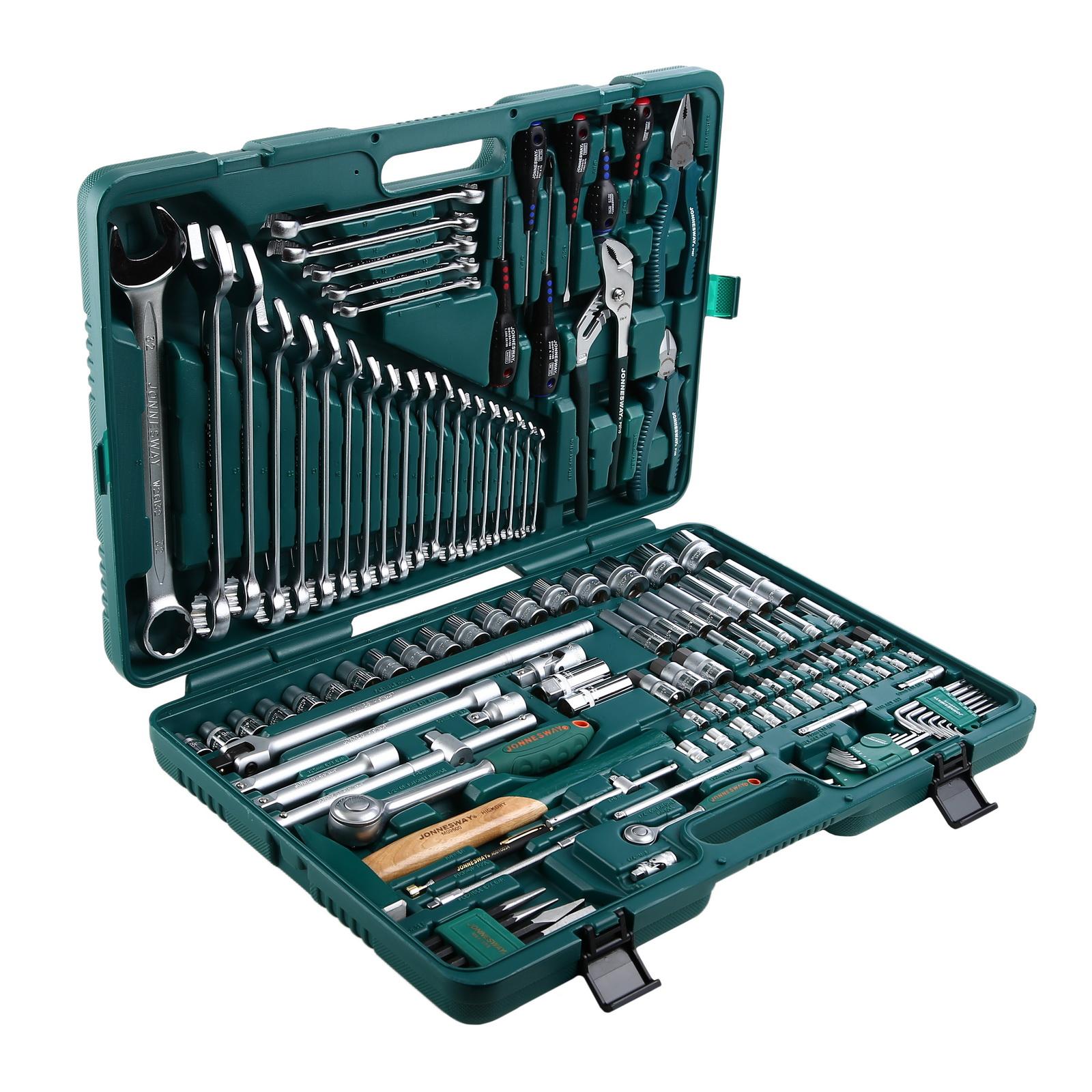 Набор инструментов в пластиковом кейсе, 128 предметов Jonnesway S04h524128s набор инструментов jonnesway s04h524128s