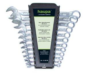 Набор комбинированных гаечных ключей в держателе, 12 шт. Haupa 110250 (6 - 22 мм) набор norgau 060240812 n7r 012 ключей 12 шт комбинированных гаечных