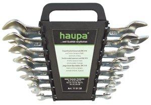 Набор рожковых гаечных ключей в держателе, 8 шт. Haupa 110130 (6 - 22 мм)