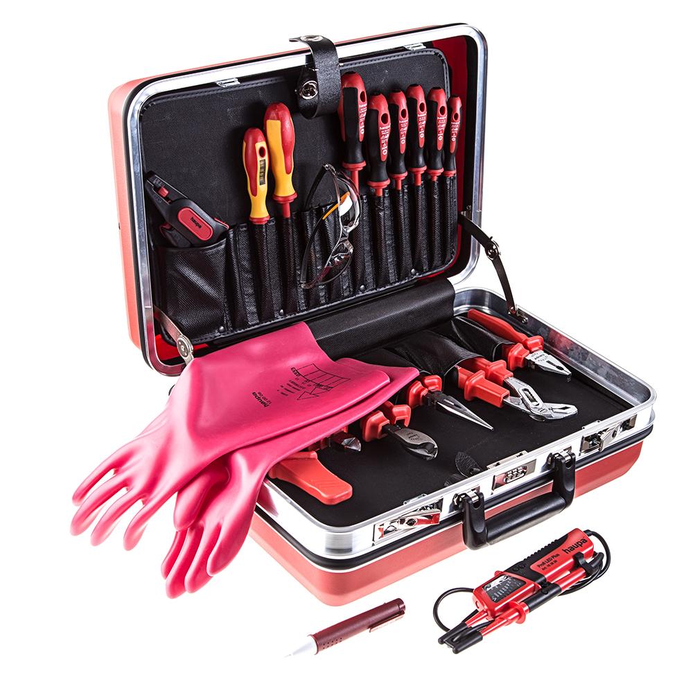 Набор инструментов для электрика в чемодане, 21 пр. Haupa 220303