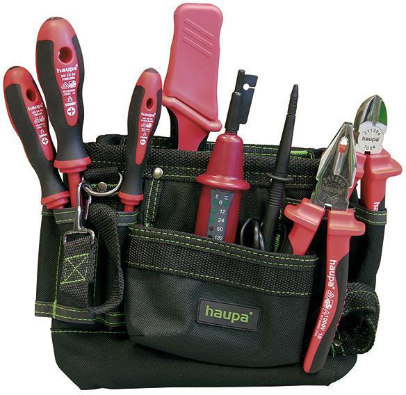 Набор инструментов для электрика, 7 предметов Haupa 220211 пассатижи для электрика зубр мастер 22668 23