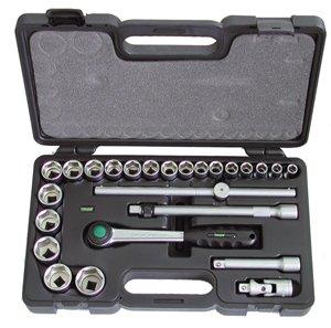 Набор торцевых головок с принадлежностями, 25 предметов Haupa 110677 набор торцевых головок jonnesway 3 8dr 6 22 мм и комбинированных ключей 7 17 мм 36 предметов