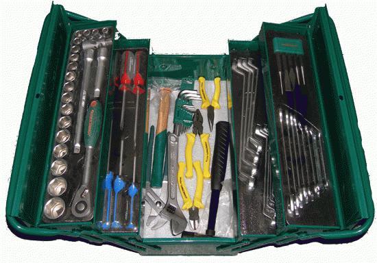 Набор инструментов в чемодане, 66 предмета Jonnesway C-3dh201 набор инструментов jonnesway s04h524128s