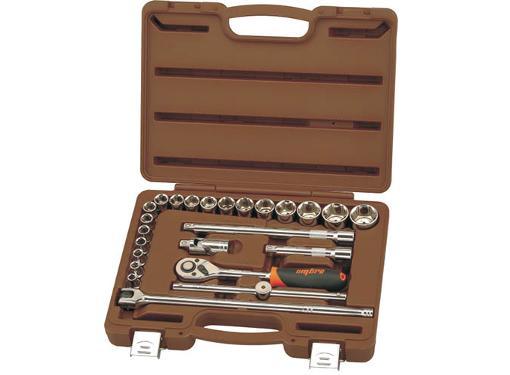 Набор торцевых головок OMBRA 911224 с принадлежностями, 24 предмета