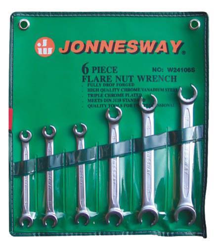 Набор разрезных ключей, 6 шт. Jonnesway W24106s (6 - 19 мм) набор торцевых головок jonnesway 3 8dr 6 22 мм и комбинированных ключей 7 17 мм 36 предметов