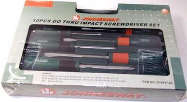 Набор отверток, 10 шт. Jonnesway D70pp10s набор ударных отверток jonnesway d70105sc