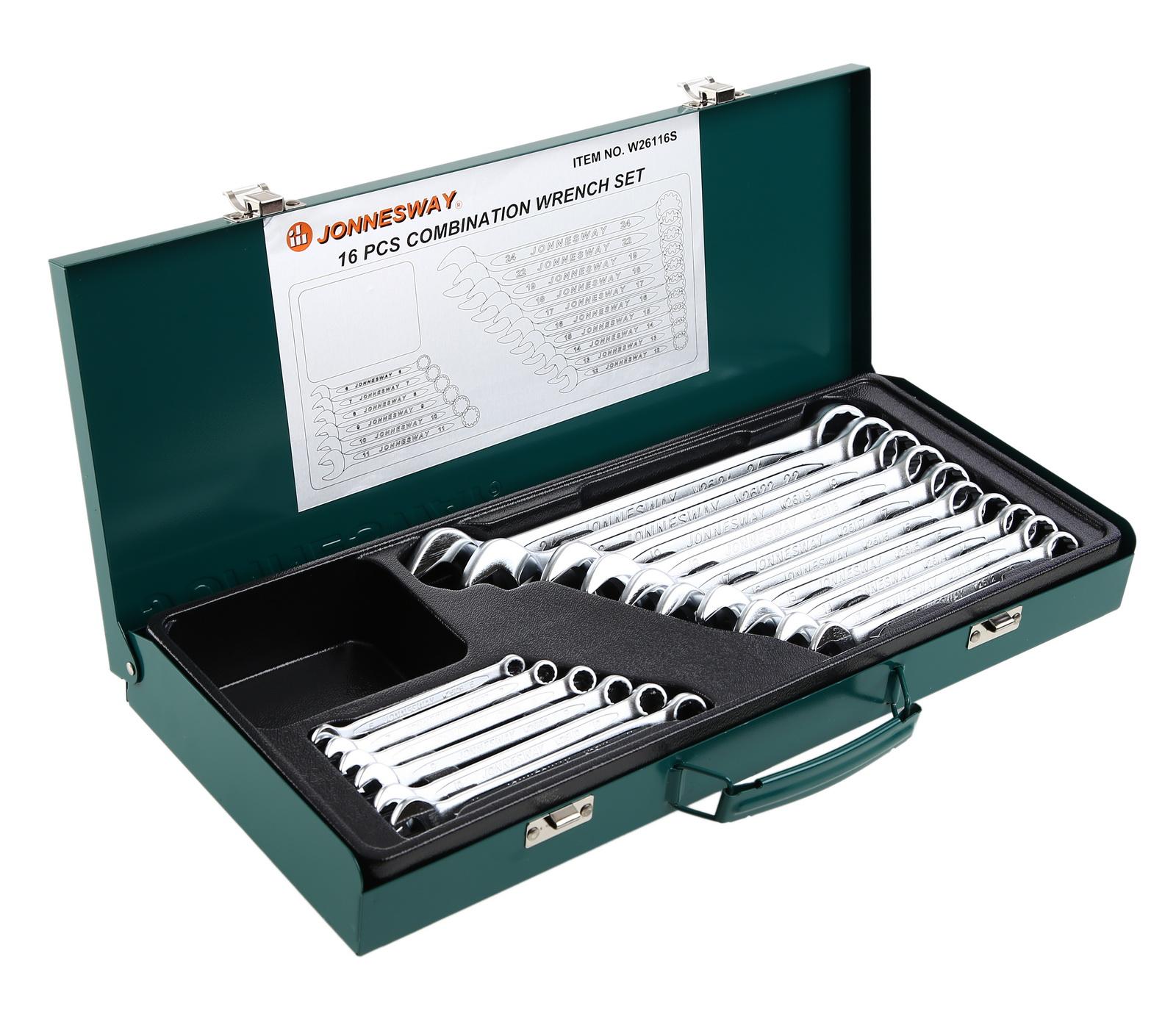 Набор гаечных ключей, 16 шт. Jonnesway W26116s (6 - 24 мм) набор для регулировки фаз грм дизельных двигателей renault nissan dci jonnesway al010183