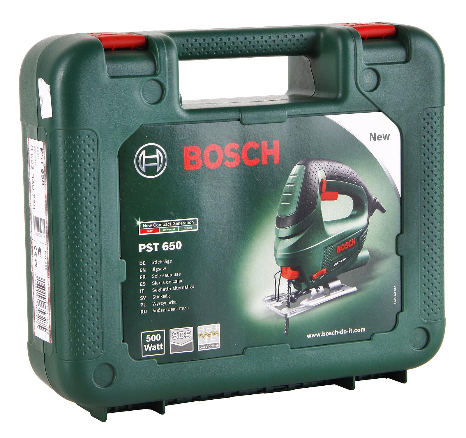 Электрический лобзик Bosch Pst 650 в кейсе (0.603.3a0.720)
