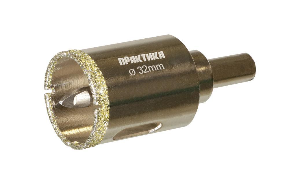 Коронка алмазная ПРАКТИКА Ф32мм цилиндрический (917-620) автомобильный набор sjcam car charge set для sj5000 sj4000 m10 черный