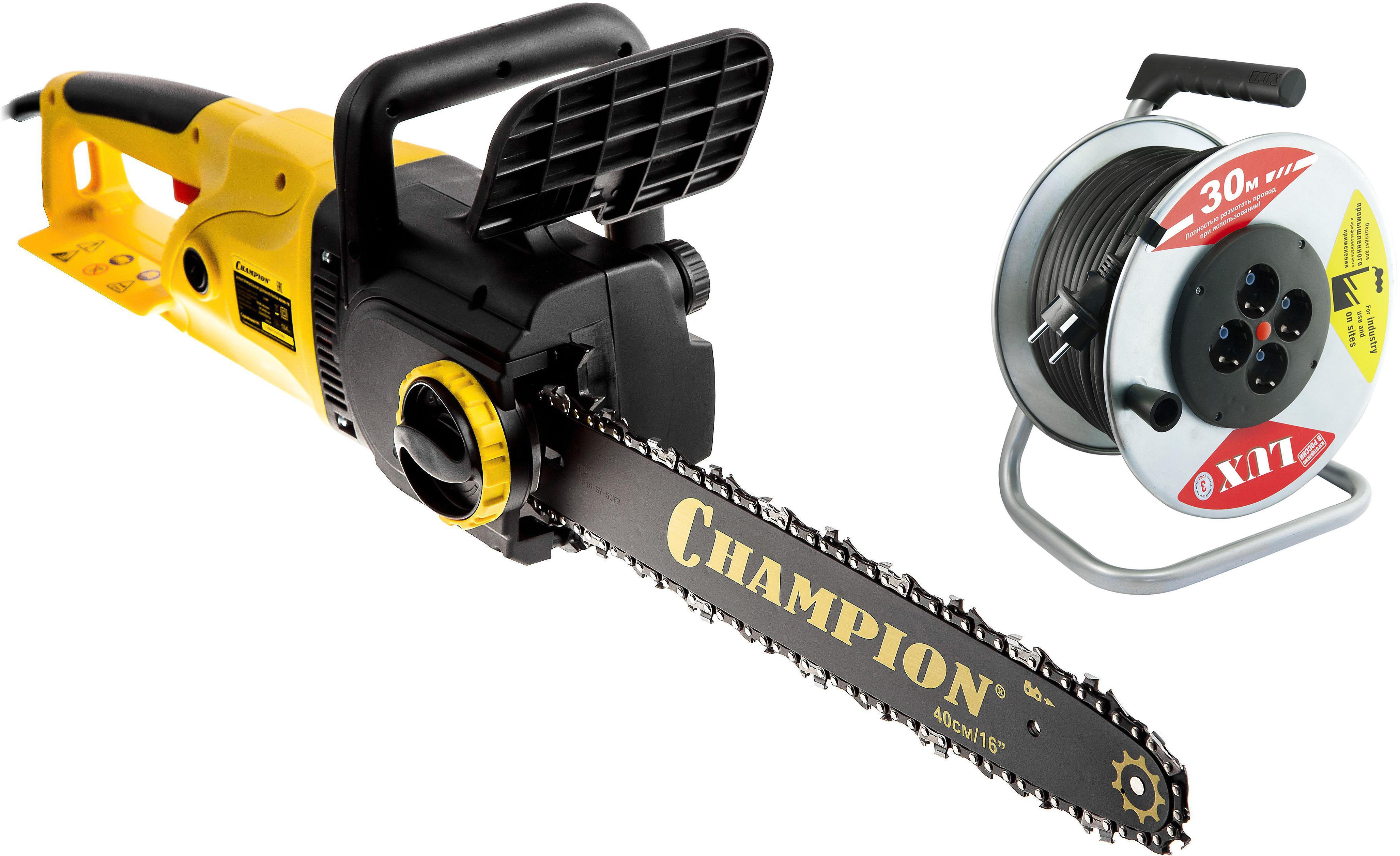 цена на Набор Champion Пила цепная 420n-16 +Удлинитель 45130