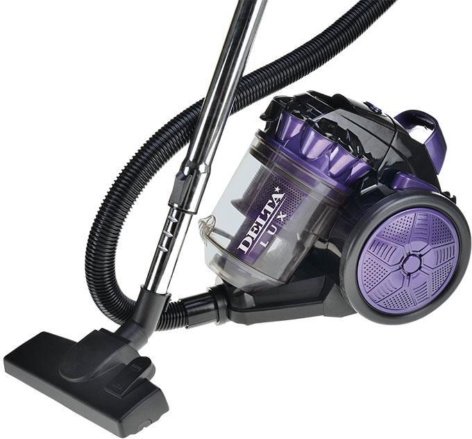 лучшая цена Пылесос Delta Lux dl-0830 фиолетовый