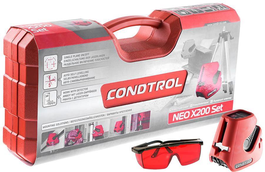 Набор Condtrol Уровень neo x200 set +Очки для работы с лазерными приборами