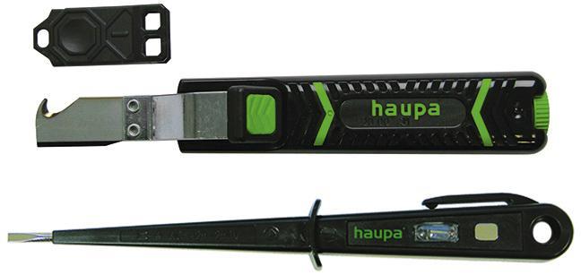 Набор Haupa Нож 200031 +Отвертка индикаторная 100700 двухкомпонентная отвертка ph0 haupa 101684