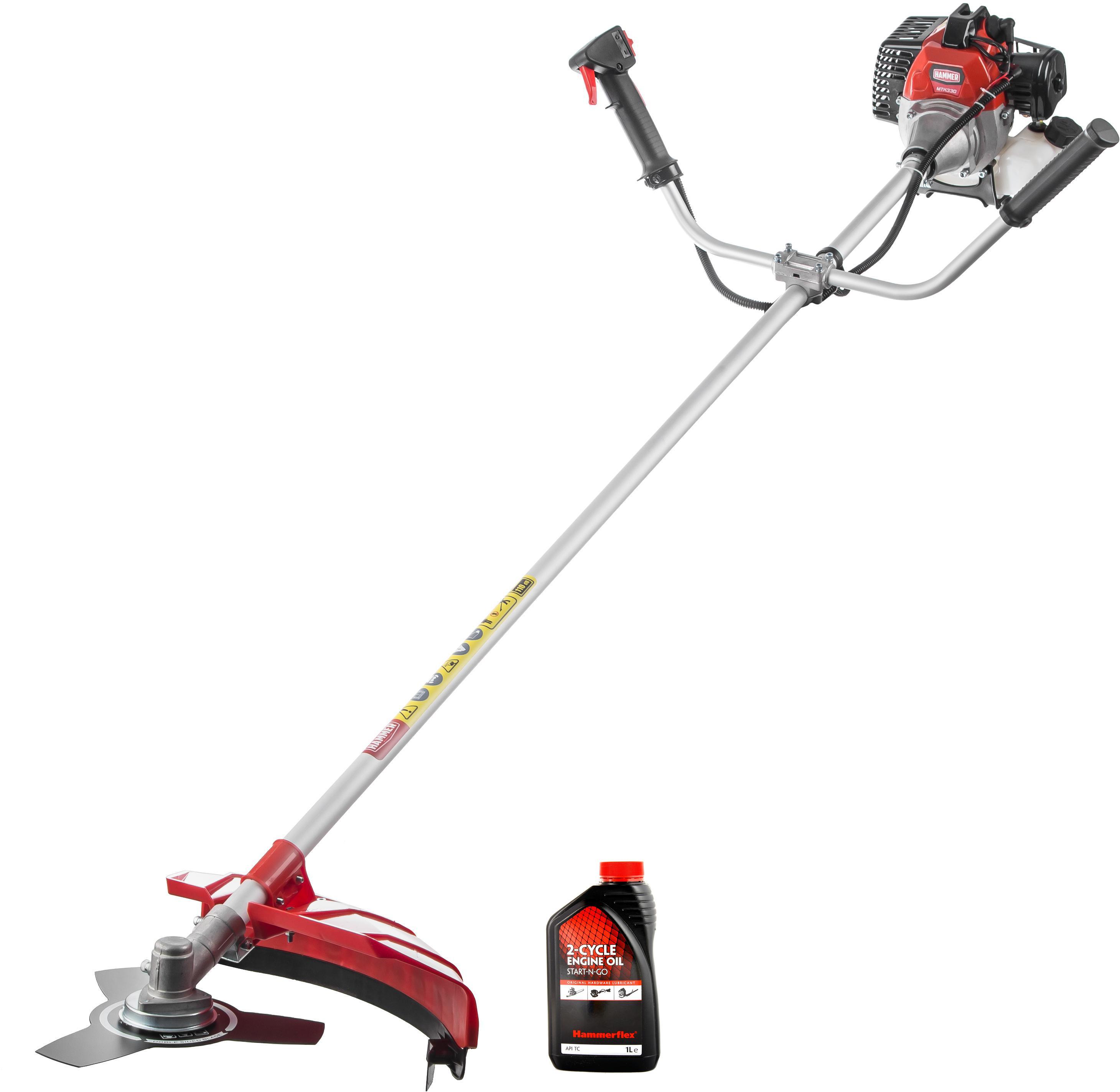 мотокоса hammer mtk330 красный черный серый Набор Hammer Мотокоса mtk330 +Масло моторное 501-001