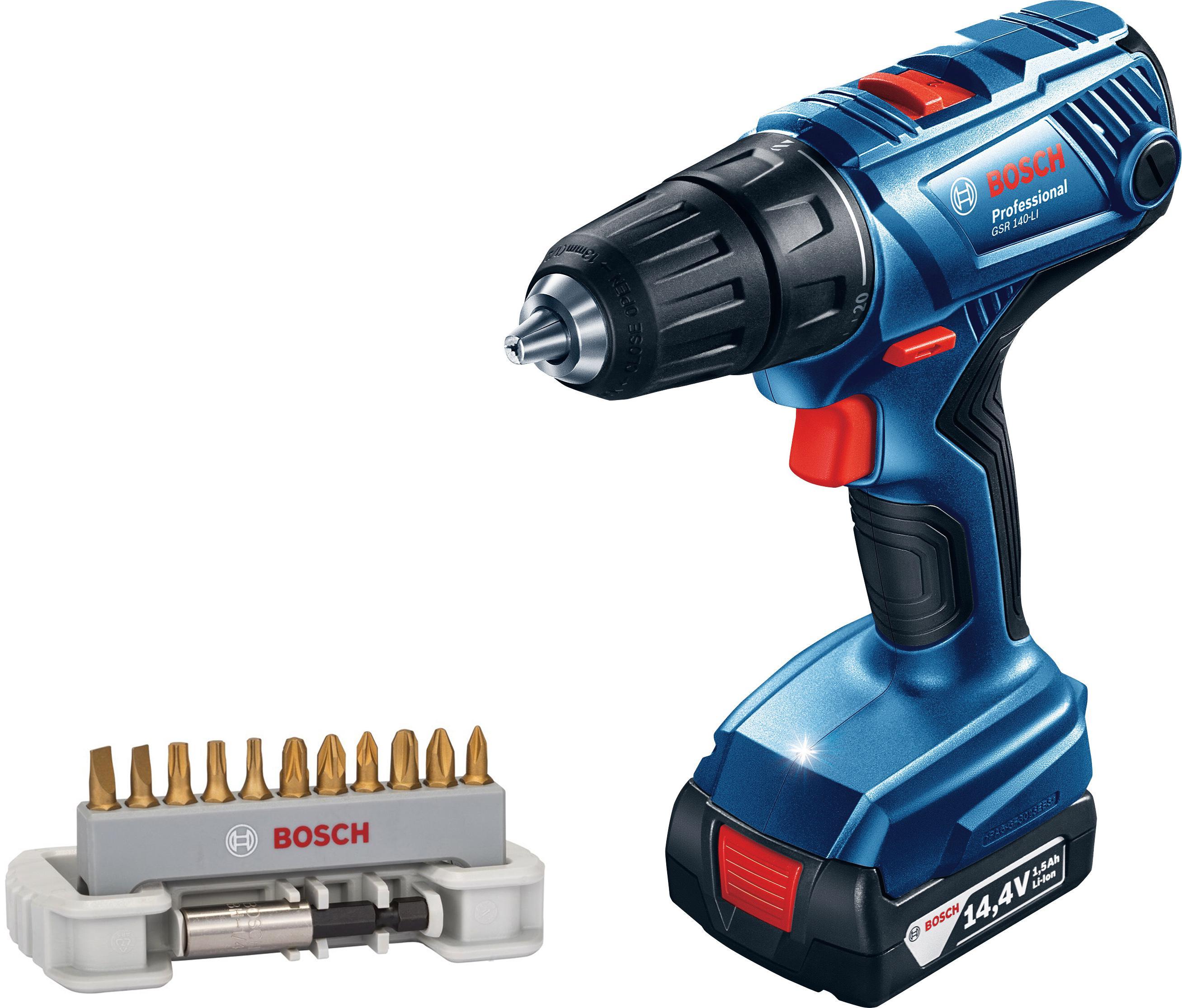 Набор Bosch Дрель-шуруповерт gsr 140-li (0.601.9f8.020) +Набор бит max grip 2608522133 фото