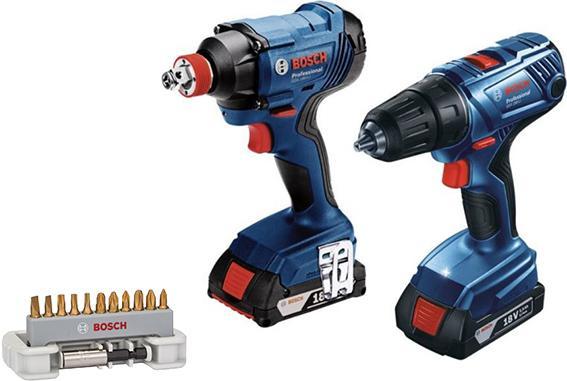 Набор Bosch Набор bosch gdx 180-li+gsr 180-li (06019g5222)+Набор бит max grip (2608522133) электроотвёртка bosch gwb 10 8v li