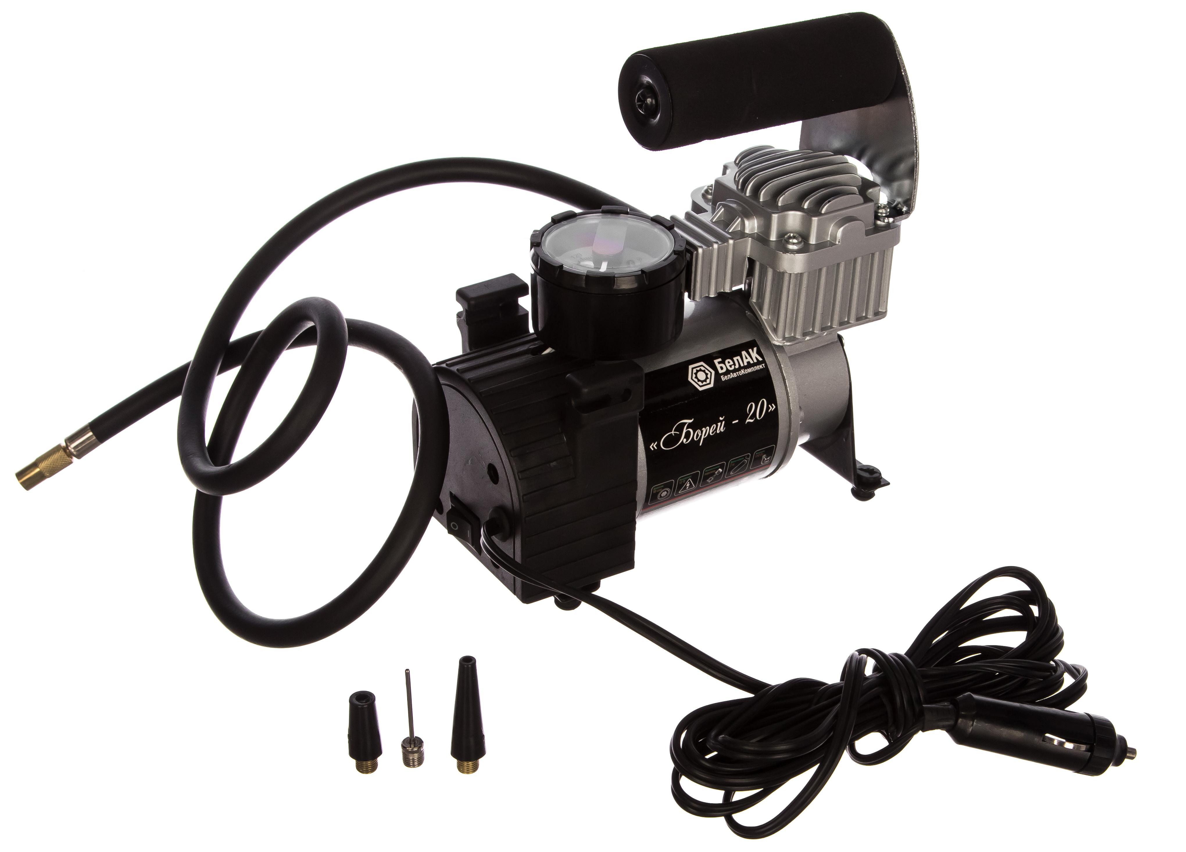 Автомобильный компрессор БелАК (БЕЛАВТОКОМПЛЕКТ) Борей-20 (БАК.99152)