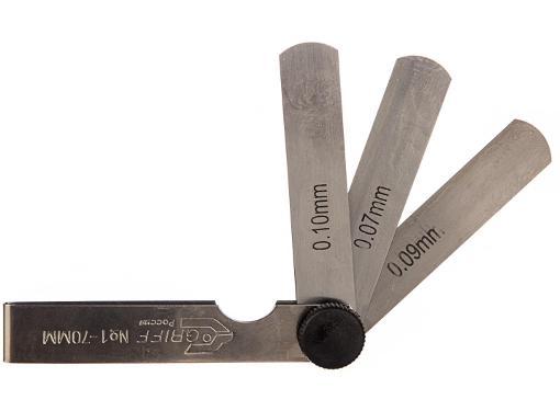 Набор щупов GRIFF №1 (0.02 - 0.1 мм), 9 пластин, 70 мм D127005