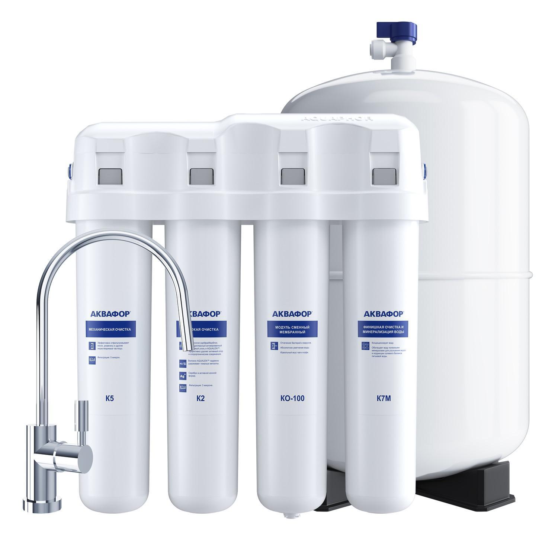 Фильтр АКВАФОР АКВАФОР-ОСМО-Кристалл-100-4-М Б1125 автомат питьевой воды аквафор dwm 70