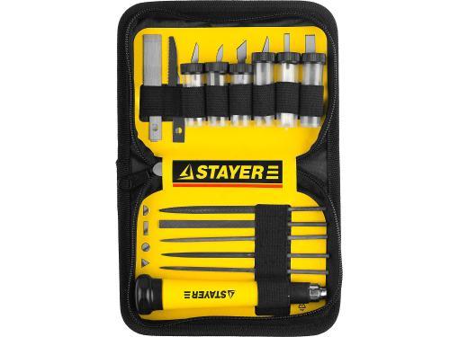 Набор ножей по дереву STAYER MASTER 09145-H38 для точных работ 38 шт